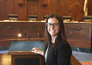 Miranda Soucie at the Illinois Supreme Court
